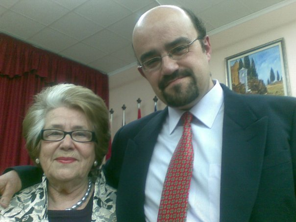 Con Maria Teresa Cervantes